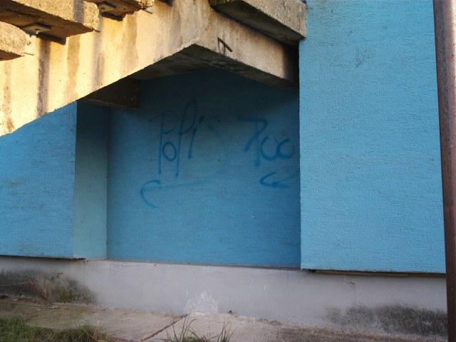 Odstránenie graffiti z plochy ošetrenej antigraffiti Žilina